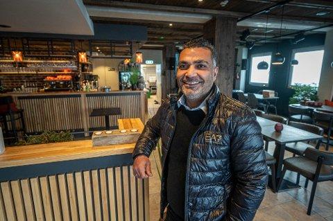 GRÜNDERDRØM: Naser Khalil (45) åpner tapasrestaurant i Fermate Hokksunds gamle lokaler.