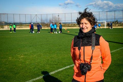 TRENINGSLEIR: Kjersti Thun i fjor på denne tiden, på treningsleir i Tyrkia med Strømsgodsets A-lag.