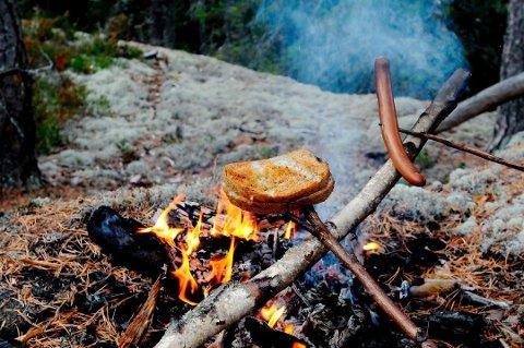 FORBUDT: Sol og påske gjør det fristende å fyre bål, men brannvesenet har innført utvidet bålforbud, siden det er veldig tørt mange steder i skogen.