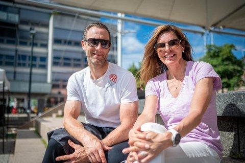 Alexander Aas og Elisabeth Lohk tilbake etter å ha syklet fra Nordkapp.
