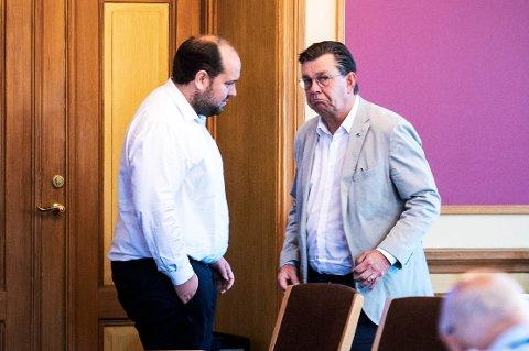 Simon Nordanger (Sp) beskyldte Fredrik Haaning (H) for å lage kvalme under debatten i godtgjøringsutvalget.