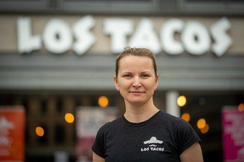 UTSATT BRANSJE: Raminta Muizyte er daglig leder ved Los Tacos i Drammen.