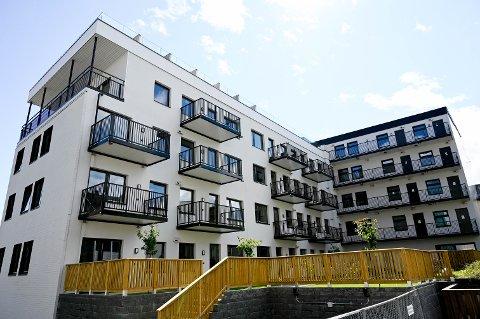 FÅTT KLARSIGNAL: Etter flere uker med venting har kommunen gitt leilighetsbygget T27 midlertidig brukstillatelse.