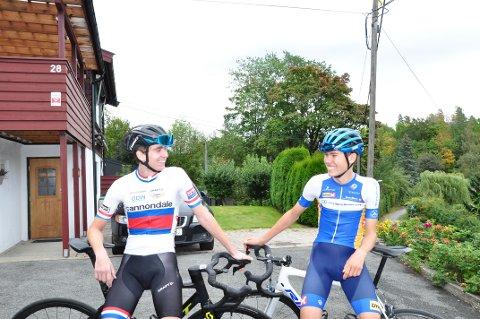 18-åringene Mads Leander Fredriksen og Ola Sylling har som mål om å bli best mulig.