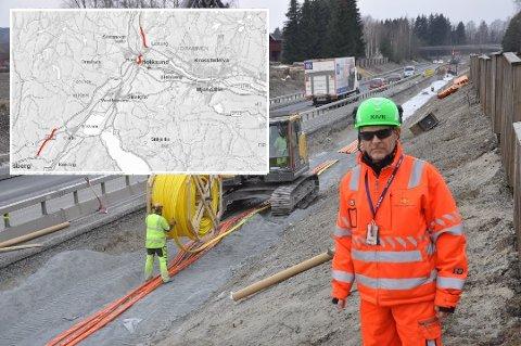 ØVRE EIKER: Statens vegvesen inngår i disse dager 31 kontrakter til en samlet verdi av 750 mill. To strekninger i Øvre Eiker skal asfalteres.