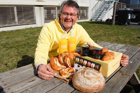 FRISTER STADIG FLERE: Morgenlevering har hatt nesten en dobling av omsetning og levering i Nordre Follo og Ås. Daglig leder Håkon Liland forteller at over halvparten av leveringene er frokostpakker av ulike slag.