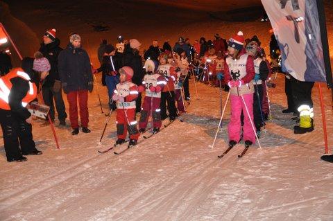 Mange påmeldte: Det var veldig godt oppmøte på årets alle første skirenn i Nordvågen.