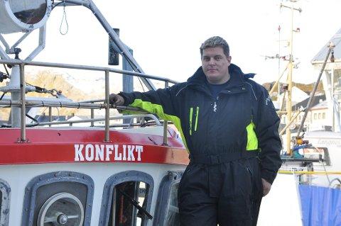 Ken Rino Johansen har navngitt båten Konflikt fordi han føler seg motarbeidet av Fiskeridirektoratet.