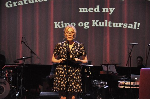 SUKSESS: Kinosjef Edelh Ingebrigtsen kunne fortelle at billettsalget har økt betraktelig etter åpningen av den nye kino- og kultursalen.