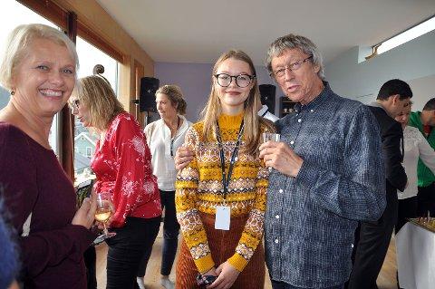 """Knut Erik Jensen sammen med sin datter Ellinor Haug Jensen, som også er en av skuespillerne i hans siste kortfilm """"Morgen""""."""