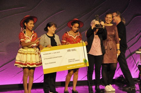 Villa Porvenir fra Nord-Bolivia fikk Barn av jorden-prisen onsdag formiddag.