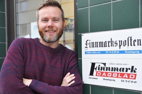NYANSATT: Lars-Magnus Hildal Røttingen har akkurat startet i jobben som journalist i Finnmarksposten.