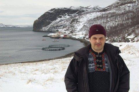 VALGKAMPSLUTT: Ordførerkandidat Arnkjell Bøgeberg for Lebesby Tverrpolitiske liste.