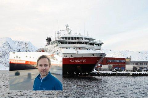 Rune Thomas Ege er kommunikasjonssjef i Hurtigruten. Han forteller at de helst skulle seilt med alle skip.
