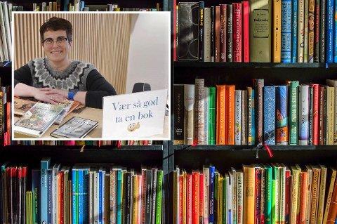 Hanne Arnrup-Øien i Kjøllefjord er glad i bøker.