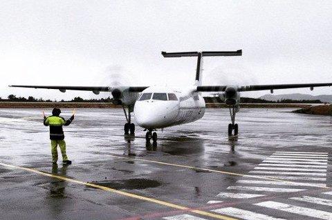 Widerøe på Florø lufthamn. Arkivfoto: David Bowen