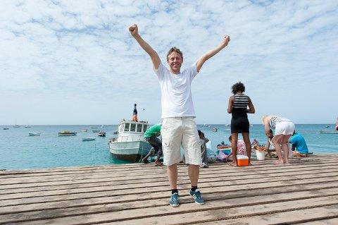 Gunnar Garfors, på Kapp Verde - har her besøkt alle verdas land.