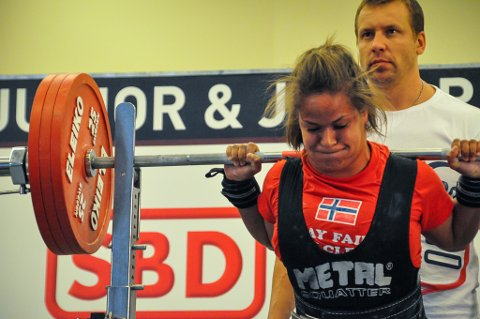 Silvia Kapstad under junior-VM i Praha.