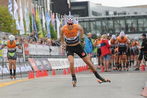 IMPONERTE: Torstein Bu var ein av fleire frå Førde som viste seg fram under Blinkfestivalen i helga. På 15 kilometer fellesstart vart 22-åringen frå Førde nummer sju. – Det var artig. Utruleg gøy! seier Bu sjølv om prestasjonen.