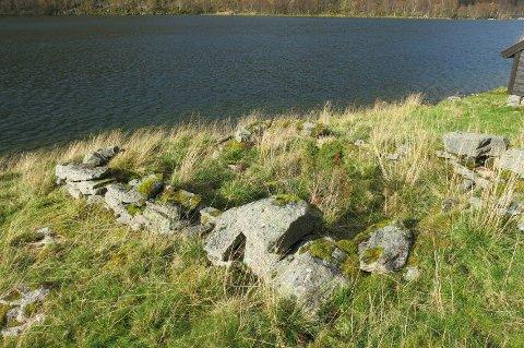 VIL BYGGE HYTTE: På denne tomta ved dei gamle fjøstuftene ville Audun Rygg bygge hytte, men fekk avslag.
