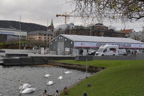 Den nye testtasjonen åpnet på Festplassen fredag 13. november.
