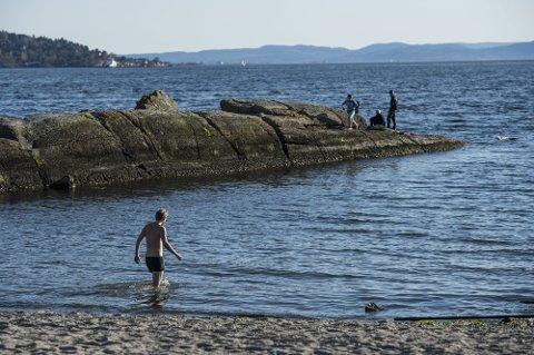 Ingen bør bade aleine. – Sjølv om ein er symjedyktig, så kan alle få problem ute i vatnet, seier Øystein Erland i Førde Idrettslag.