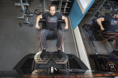 Trener: Håkon «Booty-man» Larsen har utviklet treningsmaskinen Booty Builder som nå er ettertraktet av idrettstopper fra hele verden.