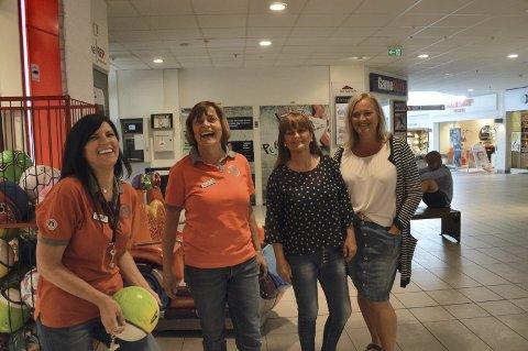 Blir besøkT av flere: Linda Olsen, daglig leder Leketorvet, Inger-Lise Bye, Leketorvet, Trine Kristiansen (Vita) og Kari P. Gundersen (Til Henne).Foto: Marianne Holøien