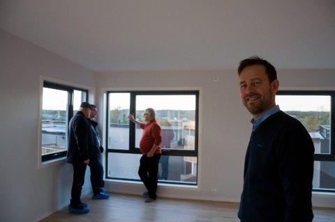 Byggetrinn 2 i Treskjæråsen er snart ferdig, og byggetrinn 3 skal øyeblikkelig starte. Frode Westlie sier markedet er som det skal være.