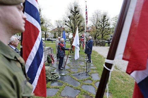 MARKERER FRIGJØRINGEN: Mandag markeres 72-årsdagen for frigjøringen i 1945. Bildet er tatt ved et tidligere arrangement.