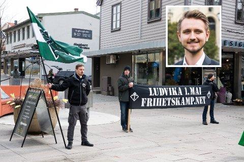 Stortingspolitiker Freddy Øvstegård (innfelt) vil ta opp Fredrikstads forslag om et nasjonalt forbud mot Den nordiske motstandsbevegelsen og prøve å få gjennomslag for det.