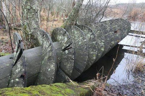 1. desember 2016: Slik ser treskruen i Arekilen ut i dag, 31 år etter at den ble gjenskapt av elevene på Greåker videregående skole. (foto: Øivind Lågbu).