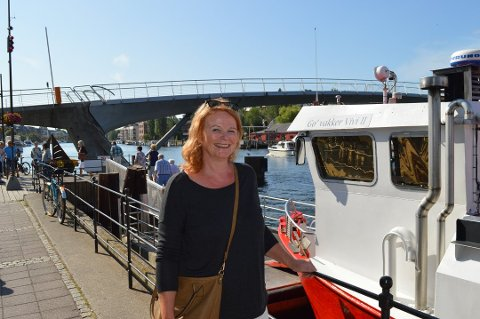 Badebåt. Anne Louise Andreassen ønsker seg badebåt til Fredrikstad.