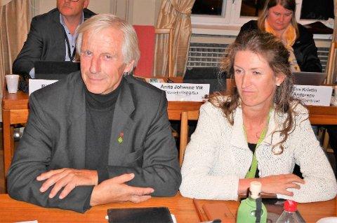 IKKE INTERESSERT: Henning Aall og Ida Julsen (MDG) gikk imot flertallets beslutning.