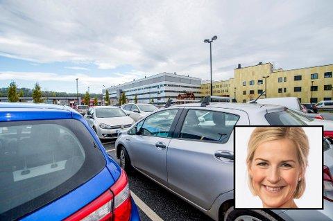 TAR SAKEN TIL STATSRÅDEN: Elise Bjørnebekk-Waagen (Ap) mener helseminister Bent Høie (H) bør sørge for like parkeringsvilkår ved landets sykehus.
