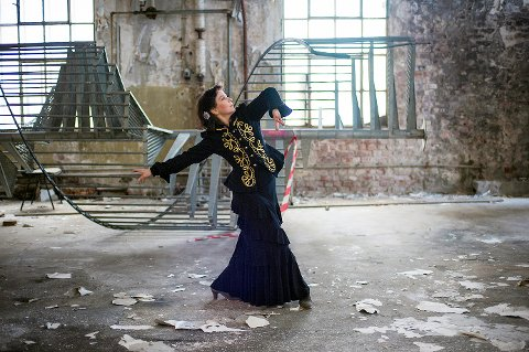 Hanne M. Knutsen er klar for å vise Fredrikstad-folk en  enaktet  flamenco  monolog.