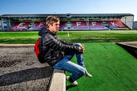 USIKKER FFK-FREMTID: Eirik Mæland er på vei tilbake etter skaden, og kan kanskje få spilletid i de to siste rundene. Kontrakten hans med FFK går ut etter sesongen.