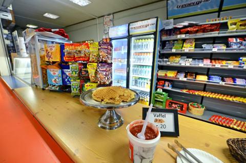 LØNNSOM: Kiosken i Kongstenhallen har drevet i pluss hvert eneste år siden 2010. Arkivfoto: Geir A. Carlsson