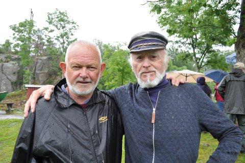 Tidligere ordfører og nå leder for Hvaler Kulturvernforening, Paul Henriksen (70) og Jan H. Arntzen (89).