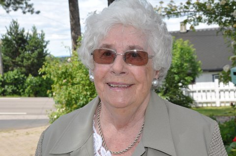 GODT HODE: Eva Jansverk runder 90 år, klokkeklar i hodet.