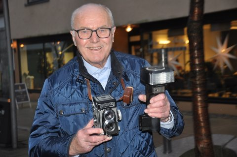 FIN KOMBINASJON: Rolf Bjørn Gundersen har i alle år hatt fotografering som hobby og jobb.