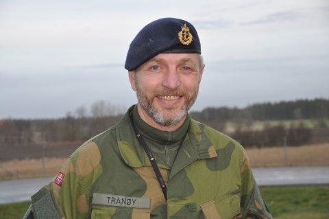 UNIFORM: Jarle Tranøy, som nå runder 50 år, har erfaring fra hele tre av fire forsvarsgrener.