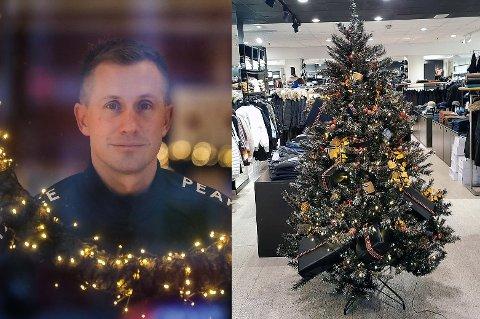 VANT JULETRE-AUKSJON: Morten Gamst Pedersen la inn et bud på 50.000 kroner og fikk tilslaget på juletreet med gaver til 75.000 kroner som MAS auksjonerte bort, til inntekt for Røde Kors.