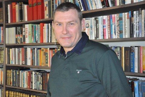 LEDER: Roy Freddy Conradi Andersen er en driftig leder på Litteraturhuset i Fredrikstad.