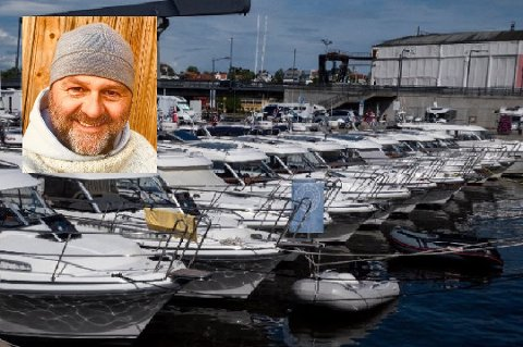 VIL HA BÅTER I PARADE: Her ligger fritidsbåtene stille i gjestehavna under et båttreff i 2019. 17. mai håper imidlertid Gaute  Blekken å se flest mulig båter i parade på elva gjennom sentrum.