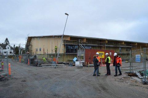 NÅ KOMMER KRAVET: Da Lislebyhallen var på vei opp i 2015, hadde ikke kommunen noen krav om at byggeplassen skulle være fossilfri. Det kravet kommer trolig nå.