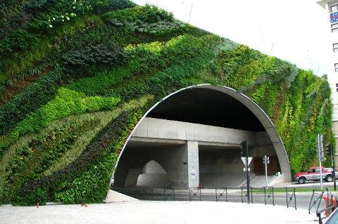 Biowall - eksempel på hvordan en grønn bru kan se ut