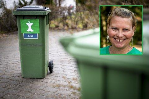 Teknisk utvalg-leder Elin Tvete (Sp) vil gi grønt lys for prøveprosjektet med egne matavfallsdunker hos 1.100 husstander. Onsdag i neste uke avgjør politikerkollegene om de er enige med henne.