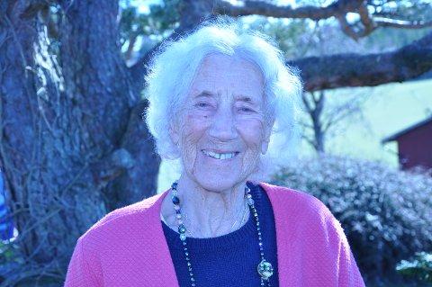 ET GODT SMIL: Martha fotografert da hun var 103 år.