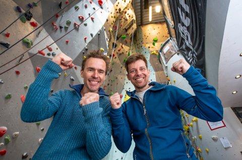 Leder i Fredrikstad klatreklubb Marko Andesilic og daglig leder i Redpoint klatresenter Thomas Magnus Kristiansen har fått en million kroner i gave fra Sparebankstiftelsen Dnb til utvidelser av klatresenteret. Klatresenteret opplever en stor interesse om dagen.